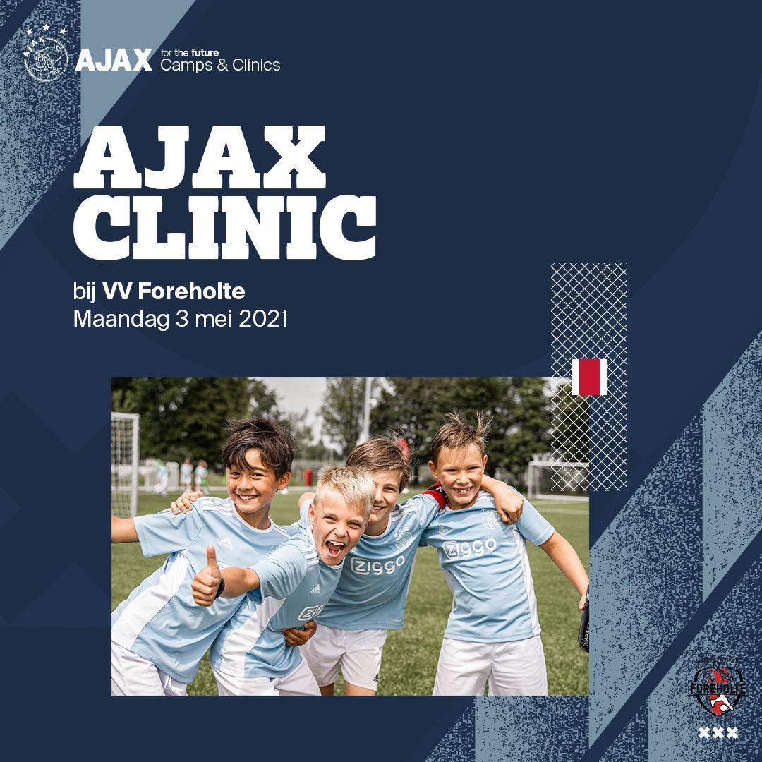 Ajax Clinics bij VV Foreholte op maandag 3 mei a.s.