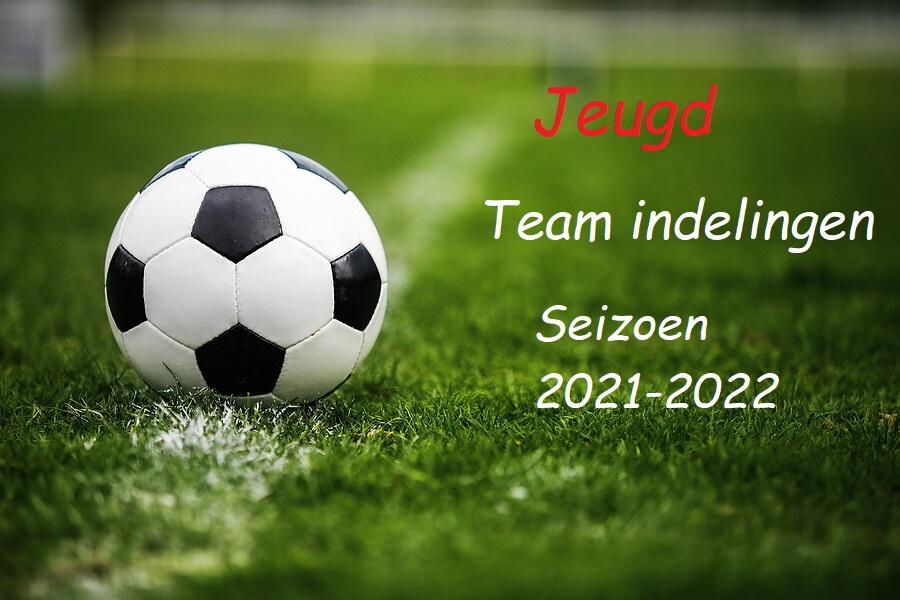 concept teamindeling voor het seizoen 2021-2022